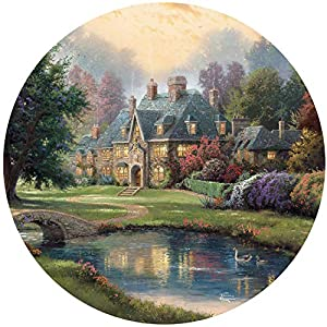 Ceaco 2414 2 Puzzle Thomas Kinkade Lakeside Manor 550 Pezzi