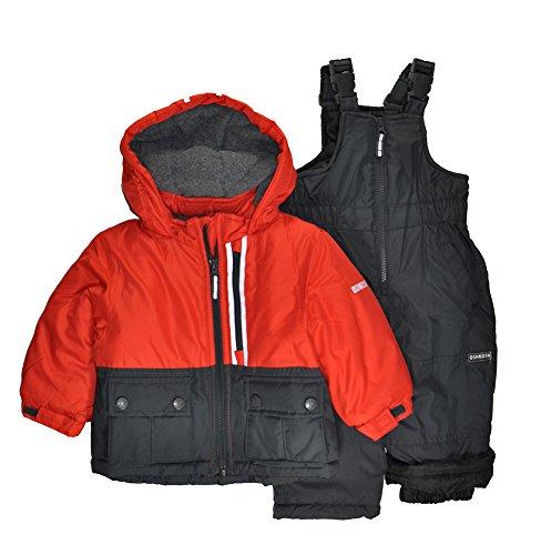 OshKosh B'Gosh Osh Kosh Baby Boys Ski Jacket and Snowbib Snowsuit Set, Red/Grey, 24M