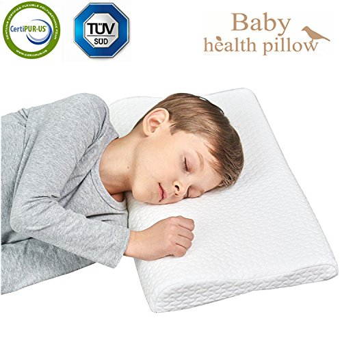 Kids Pillow (Memory Foam Toddler Pillow,Breathable Kids Contour Pillows For Sleeping(16.68x12.2x2.36/1.5In))