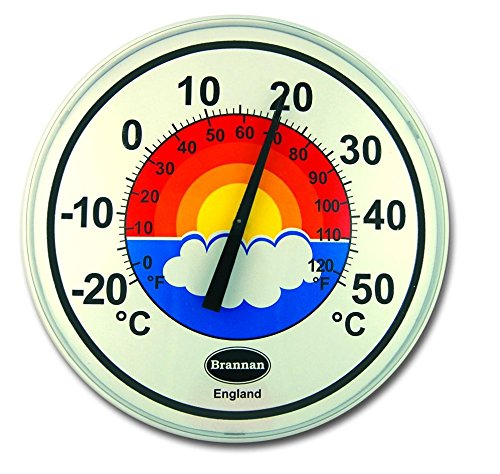 Wall Thermometer Large 300mm Dial Patio Garden Outdoor Indoor Brannan