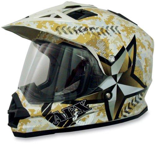 AFX FX-39 Desert Marpat Helmet , Size: Lg, Helmet Type: Offroad Helmets, Helmet Category: Offroad, Distinct Name: Desert Marpat, Primary Color: Yellow, Gender: Mens/Unisex 0110-2698