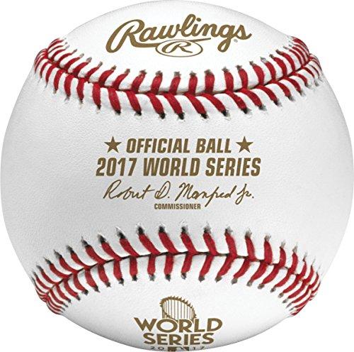 Rawlings Official 2017 World Series Leather MLB Baseball - WSBB17 ()