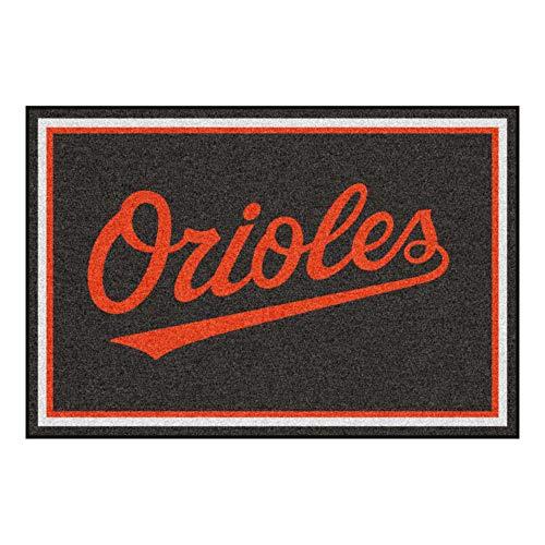 FANMATS MLB Baltimore Orioles Nylon Face 5X8 Plush Rug
