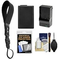 Op/Tech USA Neoprene DSLR Camera Wrist Strap (Black) with NP-FW50 Battery for Sony Alpha NEX-C3, NEX-F3, NEX-3N, NEX-5, NEX-5N, NEX-5R, NEX-6, NEX-7