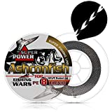 Ashconfish Braided Fishing Line - Real Color Fastness - 8 Strand 300M -6lb 8lb to 300lb - Abrasion Resistant Braid Lines - Incredible Superline - Zero Stretch - Smaller Diameter - 60LB-Black x White