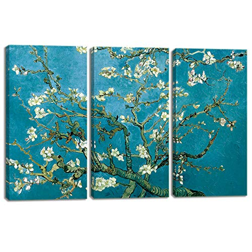 Modern Artwork for Wall Decor Vincent Van Gogh'S Painting Branches Of An Almond Tree In Blossom Reproduction Artwork Pictures on Canvas Stretched and Framed Ready to Hang (16