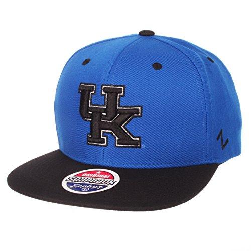 Zephyr NCAA Kentucky Wildcats Men's Z11 Static Snapback Hat, Adjustable, Black/Team Color