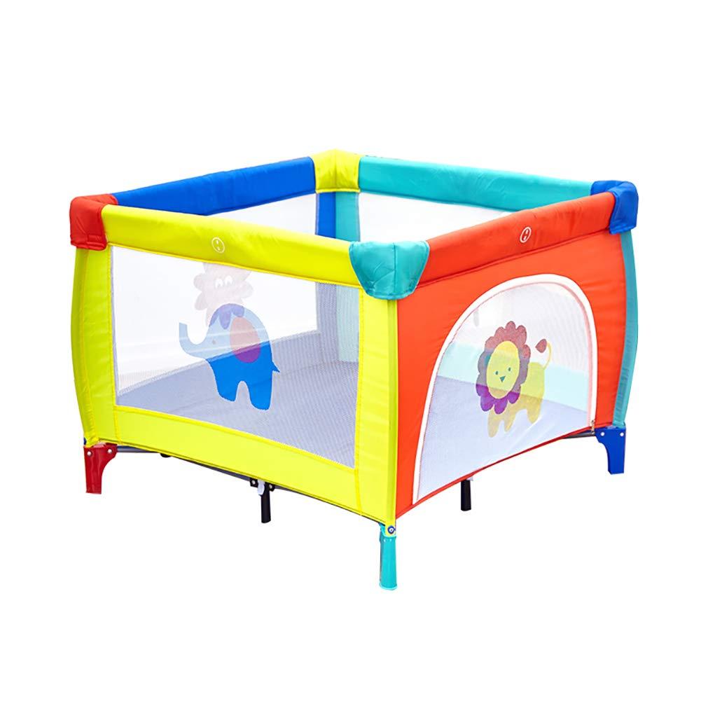 BSNOWF-ベビーサークル バランスを失う幼児のための折りたたみ式の遊び場、多機能のセキュリティベビープレイグランド反ロールオーバー屋内遊び場   B07KWK13DX