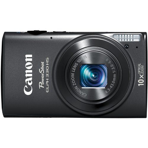 Canon PowerShot ELPH 330 12.1MP Digital Camera with 10x Optical Image Stabilized Zoom with 3-Inch LCD (Black)