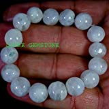 Fertility, Pregnancy, Hormones, Love, Sleep crystal healing stretch bracelet, Moonstone 10mm white beads with rainbow, stacking bracelets