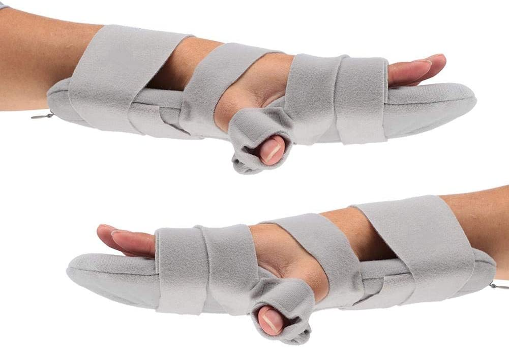 Puntos diapasón, reposamuñecas, vendaje de mano ajustable férula de muñeca ortesis para dedos puntos de diapasón muñeca soporte de posicionamiento de la mano izquierda hombres mujeres (2#)