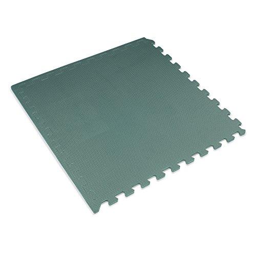 (We Sell Mats 3/8 Thick Interlocking Foam Mats, Hunter Green, 100 SQFT (25 Tiles))