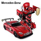 2.4Ghz Radio Control 1/14 Mercedes-AMG GT3 Transformers Model RC Car Robot (Red)