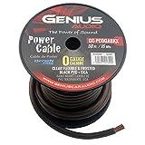 Genius GC-PC0GABKX 0 Gauge Power Cable Cca Roll black 50ft