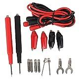 BQLZR Black & Red Multimeter Multifunction Digital Universal Combined Test Lead Probe Cable Set Kit