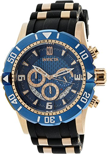 Invicta Men's 'JT' Quartz Stainless Steel and Polyurethane Casual Watch, Color:Two Tone (Model: 24169) by Invicta