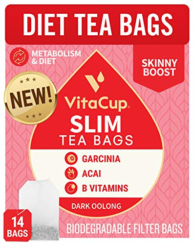 🥇 VitaCup® Slim Tea Bags 14ct w/ Oolong Tea & Acai Berry for Skinny Diet