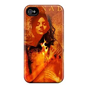 Iphone 4/4s QRB13577TMNr Customized Lifelike Lullacry Band Pattern Protector Cell-phone Hard Covers -KennethKaczmarek