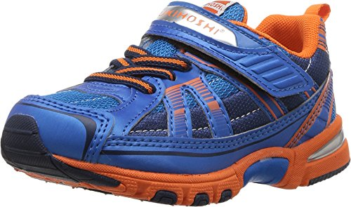 (TSUKIHOSHI Kids Baby Boy's Storm (Toddler/Little Kid) Blue/Orange Sneaker)