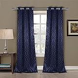 Duck River Textiles TAYLA 11605D=12 Blackout Grommet Pair Panels (2 Piece), 36″ x 84″, Midnight Blue