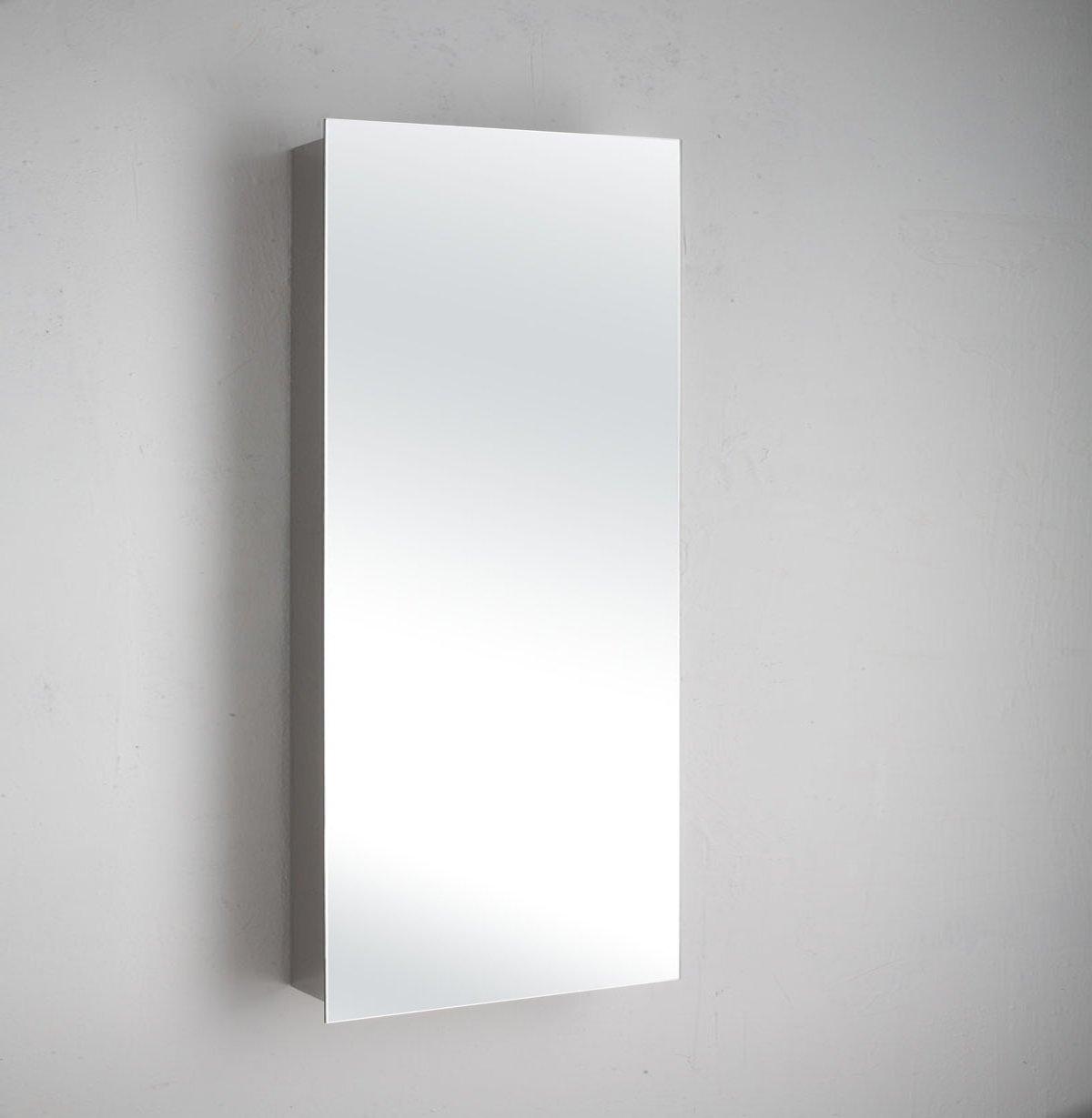 Paris 60cm X 36cm Single Door Mirror Bathroom Wall Cabinet