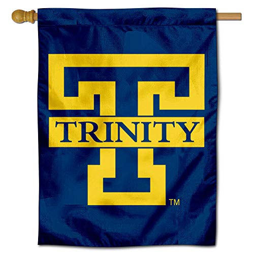 (College Flags and Banners Co. Trinity Bantams Blue Double Sided House Flag)
