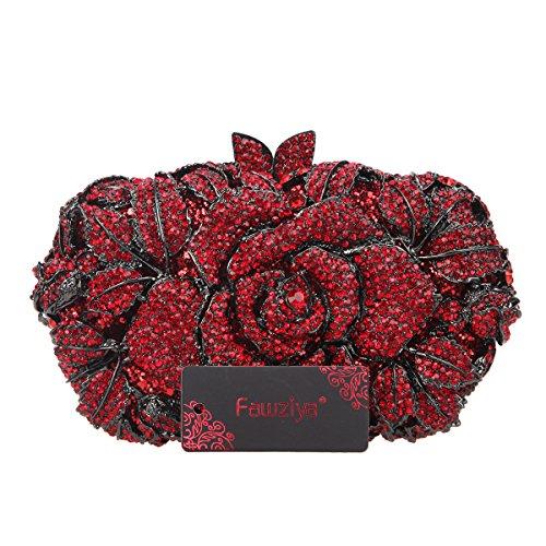 Amazon.com: fawziya Rhinestone rosa embrague Monederos y ...
