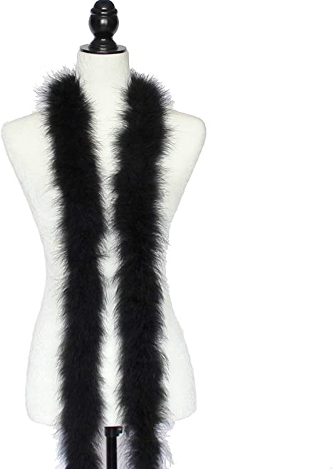 MARABOU FEATHER BOA BONE 2 Yards 22 Grams; Dress//Bridal//Art//Costume 72/""