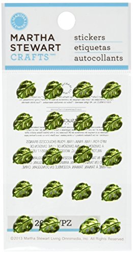 Martha Stewart Crafts Decorative Stickers, Mini Metallic Leaf