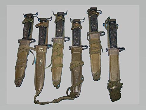 - Viz Bayonet M7 M8A1 Scabbard Sheath Military USMC Army & Shelby P38