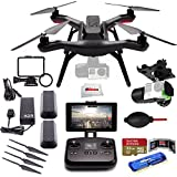 3DR Solo Quadcopter with 3-Axis Gimbal for GoPro HERO3+ / HERO4 + Extra 3DR Smart Battery + Extra 3DR Propeller Set + SanDisk 32GB Extreme PRO microSDHC Memory Card + High Speed All-in-1 Card Reader + More!!!
