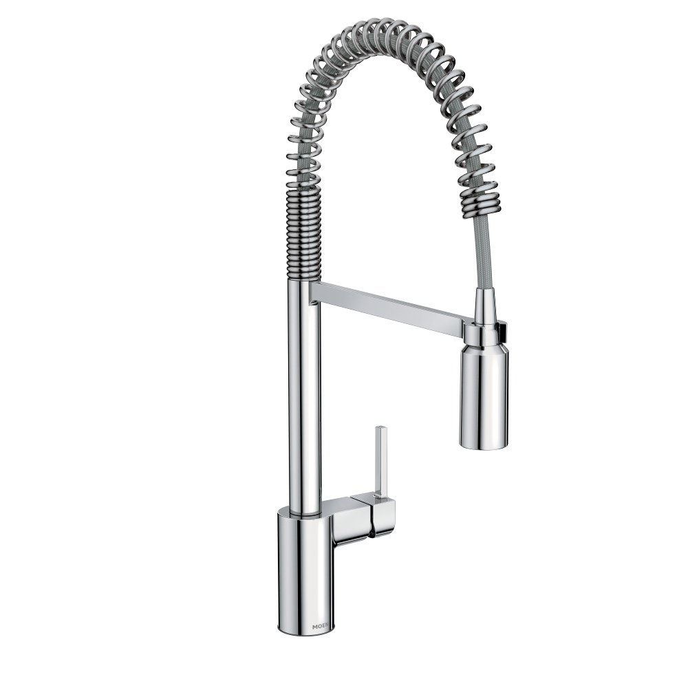 Moen 5923 Align One-Handle Pre-Rinse Spring Pulldown Kitchen Faucet with Power Clean, 1 count, Chrome by Moen (Image #1)