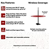 Wifi Booster antenna High Power 1000mW extender signal booster Increases Internet Range of Your Wireless Network Up to 20 Times In Every Direction magnetic bottom works only removable RP-SMA antennas