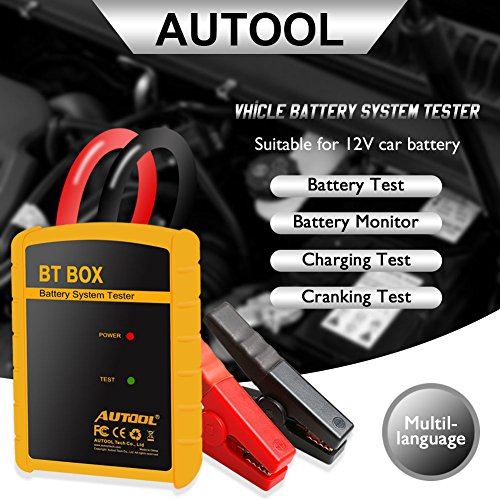 AUTOOL BT-BOX Bluetooth Car Diagnostic Battery System Tester Analyzer BTBOX Wireless Auto Battery Testers For IOS/Android System Support12V Vehicles by AUTOOL (Image #4)