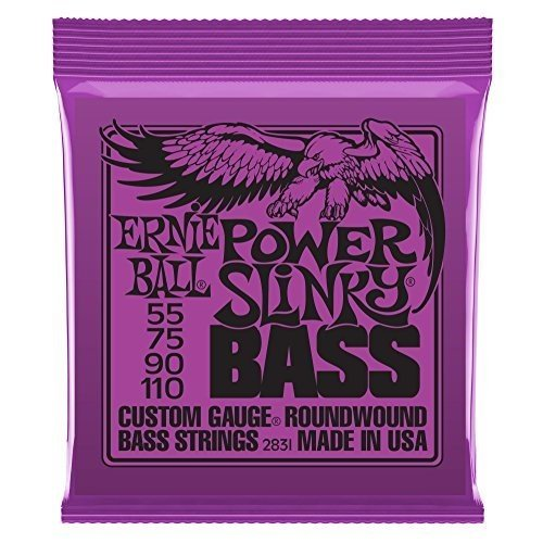 Ernie Ball 2831 Slinky Round Wound Power Bass Strings 2 Pack (Standard)
