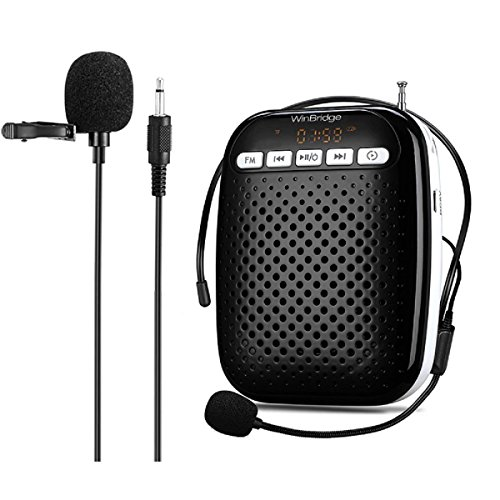 WinBridge Voice Amplifier Speaker with Two Microphons Headset Mic and Lavalier Mic Portable Pa Amplifier for Teachers, Elderly, Parkinsons, Tour Guide, 10W WB378  Price: $39.90