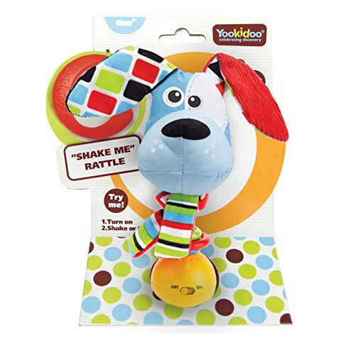 Baby Rattle Toy Musical Activity Motion Activated Dog with Music BPA Free Infant Activity Teething newborn teether montessori toys for Babies 0 months and Older