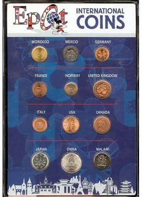 New Disney Parks EPCOT Center International Coins Uncirculated 12 Coin Set