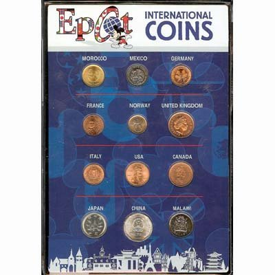 Epcot International Coins Set - Holder Coin Set