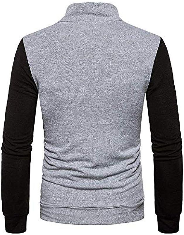 HaiDean męski sweter z długim rękawem, luźny, z kieszeniami: Odzież