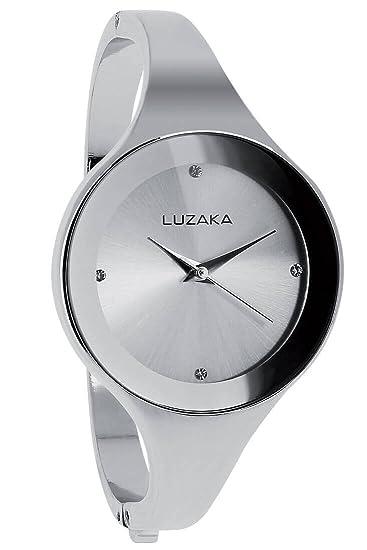 Luzaka Alena - Reloj para mujer, moderno y económico, incluye estuche de regalo, color plateado: Amazon.es: Relojes