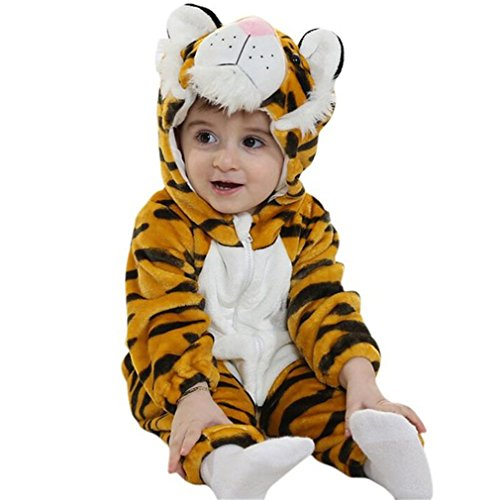 Flannel Cotton rompers Tiger