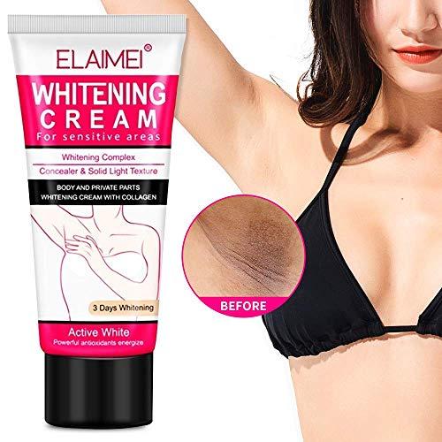 Natural Whitening Cream, Underarm Lightening and Brightening Deodorant Cream, Armpit Whitening Body Creams, Underarm Repair Whitening Cream Between Legs Knees Sensitive Areas