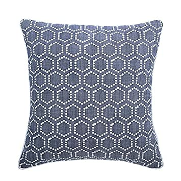 Amazon.com: Handmade Blue Euro Pillow Shams 26x26 inch ...