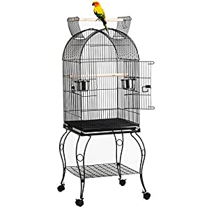 Yaheetech 59 Rolling Standing Medium Dome Bird Cage