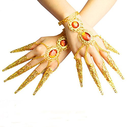 Ewandastore Belly Dance Wrist Ankle Cuffs Bracelets Wristband Gypsy Jewelry,Halloween Costume Accessory -