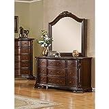 Furniture of America Kassania Luxury 2-Piece Dresser and Mirror Set