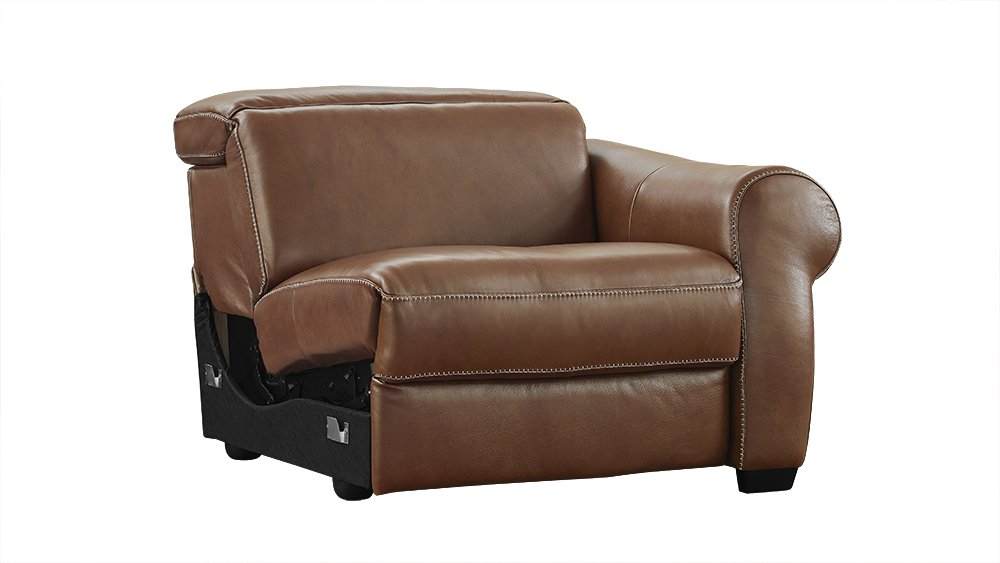 Amazon.com Messina Brown Leather Modular Reclining Left Arm Facing Chair Home u0026 Kitchen  sc 1 st  Amazon.com & Amazon.com: Messina Brown Leather Modular Reclining Left Arm ... islam-shia.org