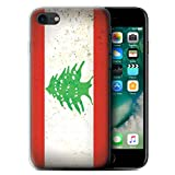 STUFF4 Gel TPU Phone Case / Cover for Apple iPhone 7 / Lebanon/Lebanese Design / Asian Flag Collection