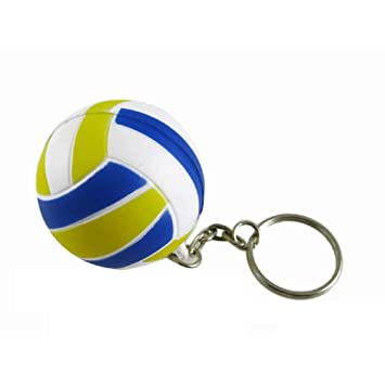 Llavero Sling Blue Rubber Mini Voleibol en forma de llavero ...